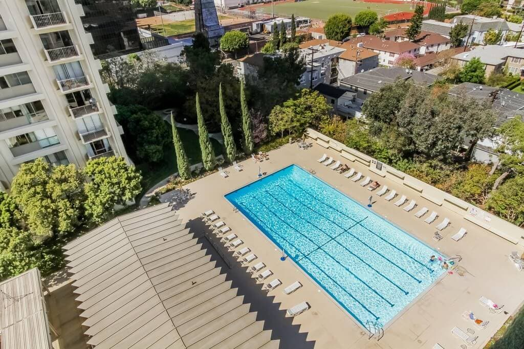 century park east pool from above