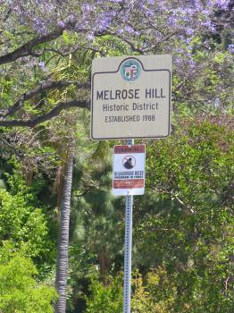 Melrose hill sign