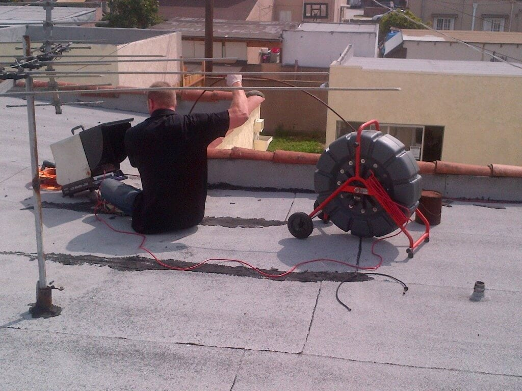 Sewerline Inspection roof