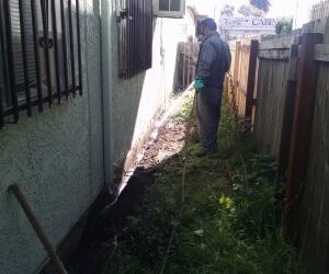 Spraying trench
