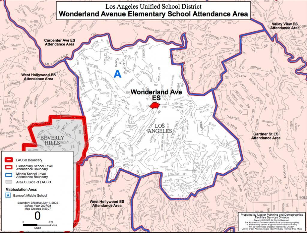 Wonderland elementary BoundaryMap