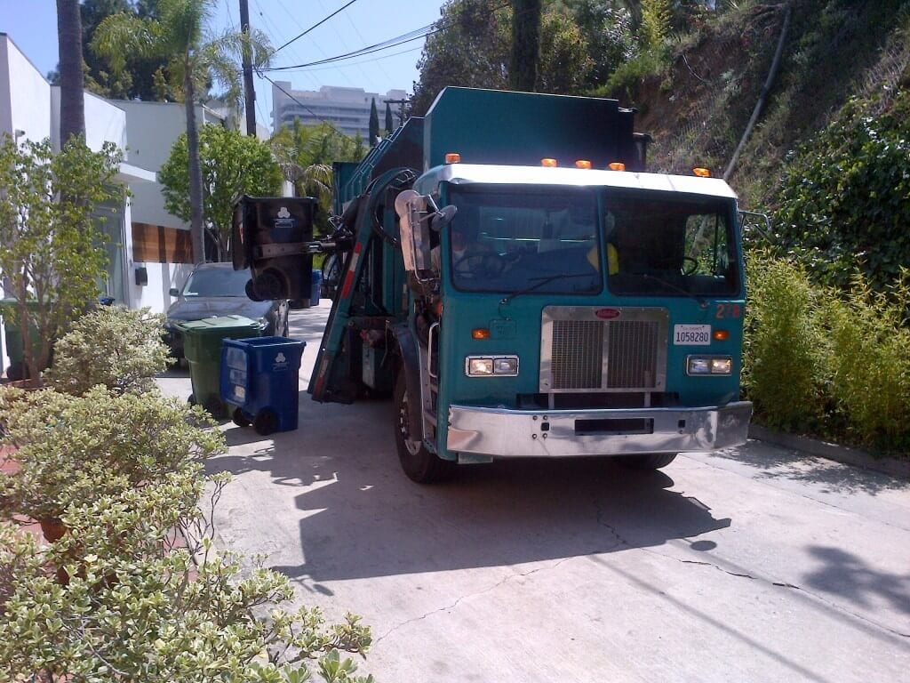 Hollywood Hills Trash Collection