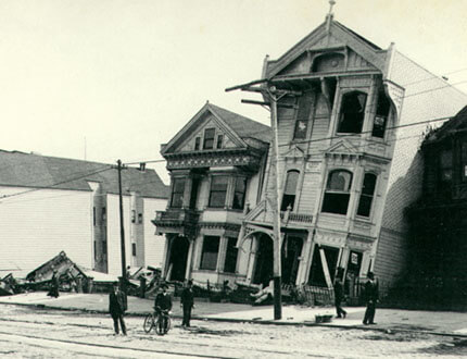 San Fransico House destroyed by 1906 earthquake