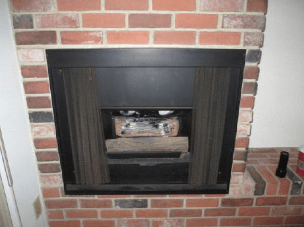 gas insert chimney fireplace