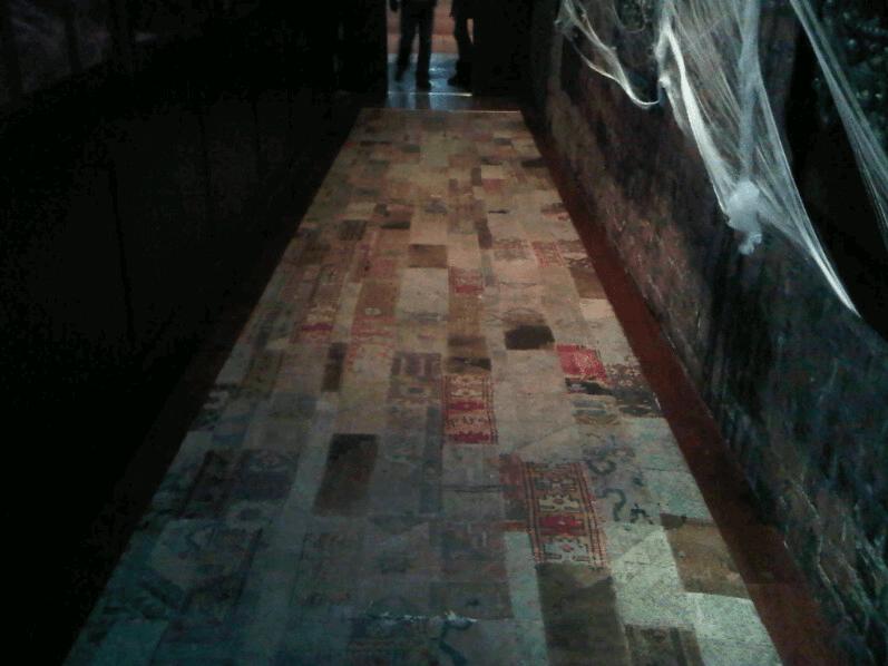 voyuers vintage patchwork rug