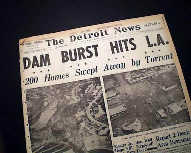 Baldwin Hills dam burst 1963 newspaper