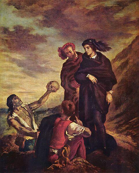 Eugene-Delacroix-Hamlet