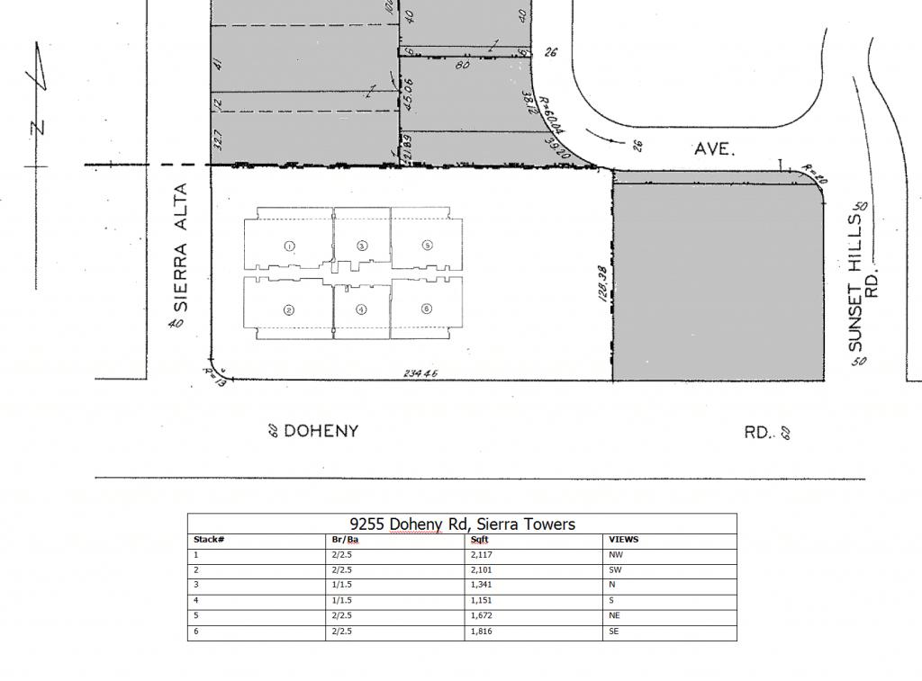 Sierra Towers floorplans