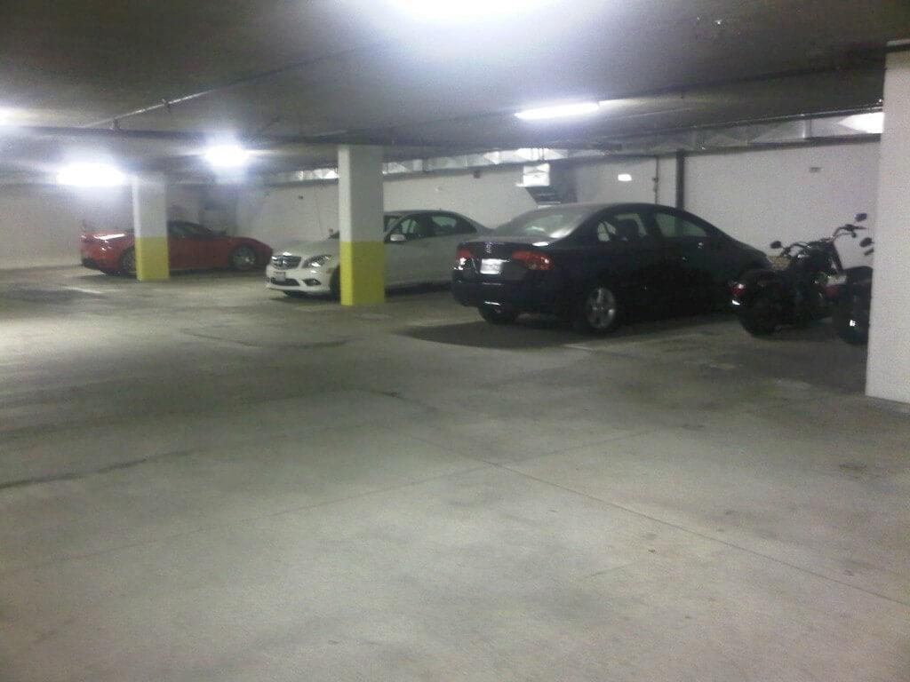 Subterranean parking garage