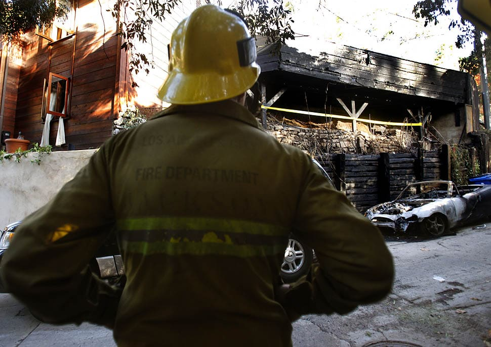 Hollywood arson fires: Fire scene