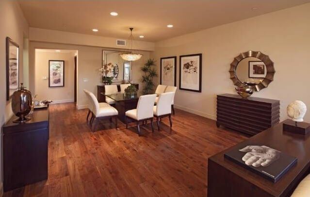 Hand Brushed Walnut Floors