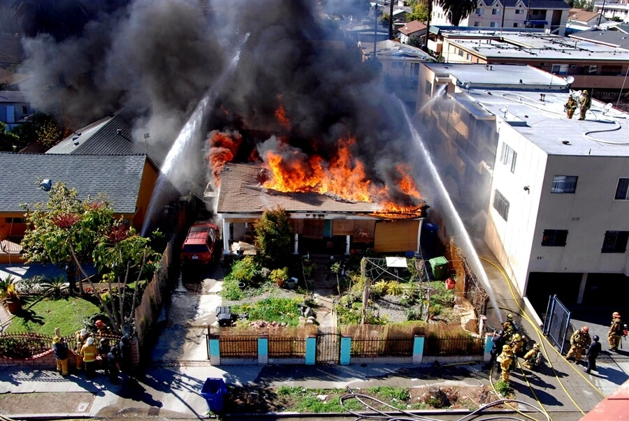 Hollywood House Fire