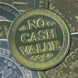 token no cash value