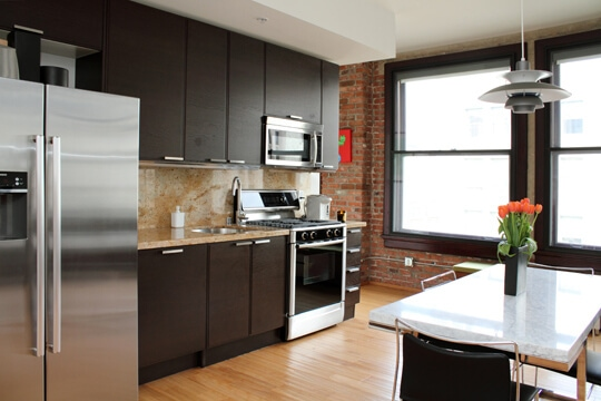 rowan lofts kitchen