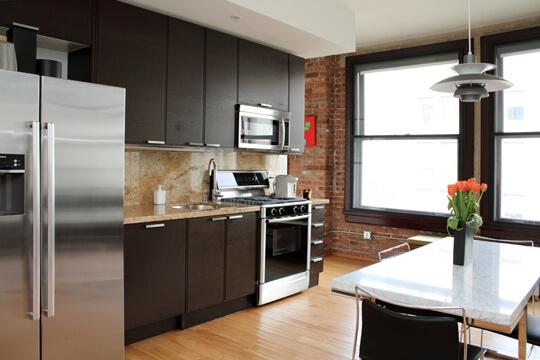 rowan lofts kitchen