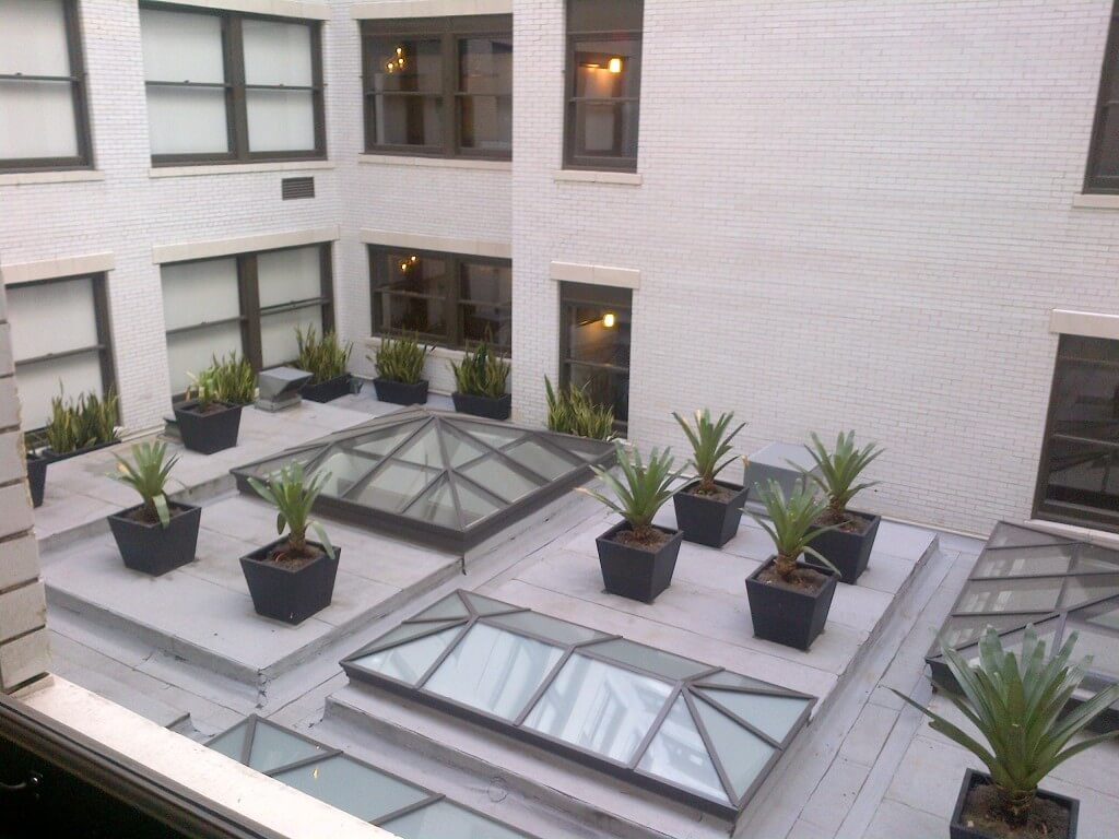 Rowan lofts courtyard