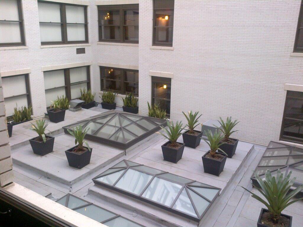 Rowan lofts courtyard