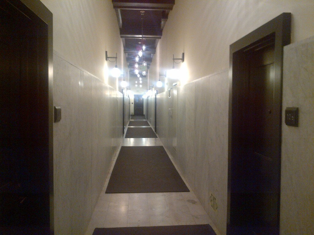 Rowen Lofts carrera marble hallways