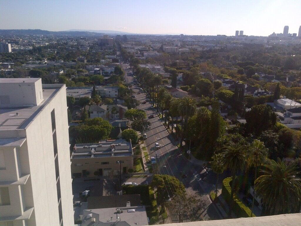 838 N Doheny view from roof