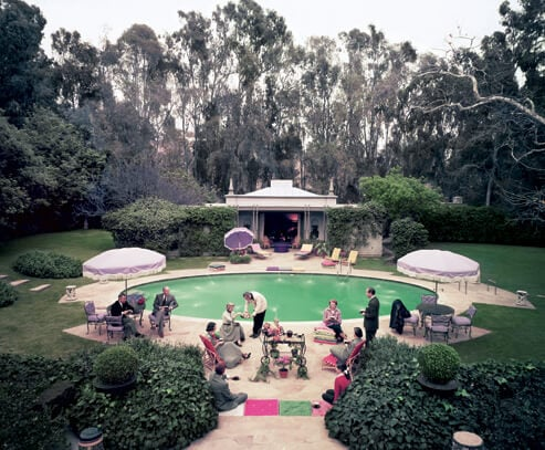 Slim Aarons's iconic photograph of the Pendletons entertaining guests beside the pool of their Beverly Hills home, circa 1960. By Slim AaronsGetty Images.
