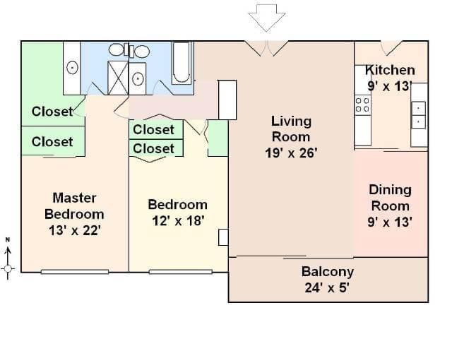 Typical 818 doheny Floorplan