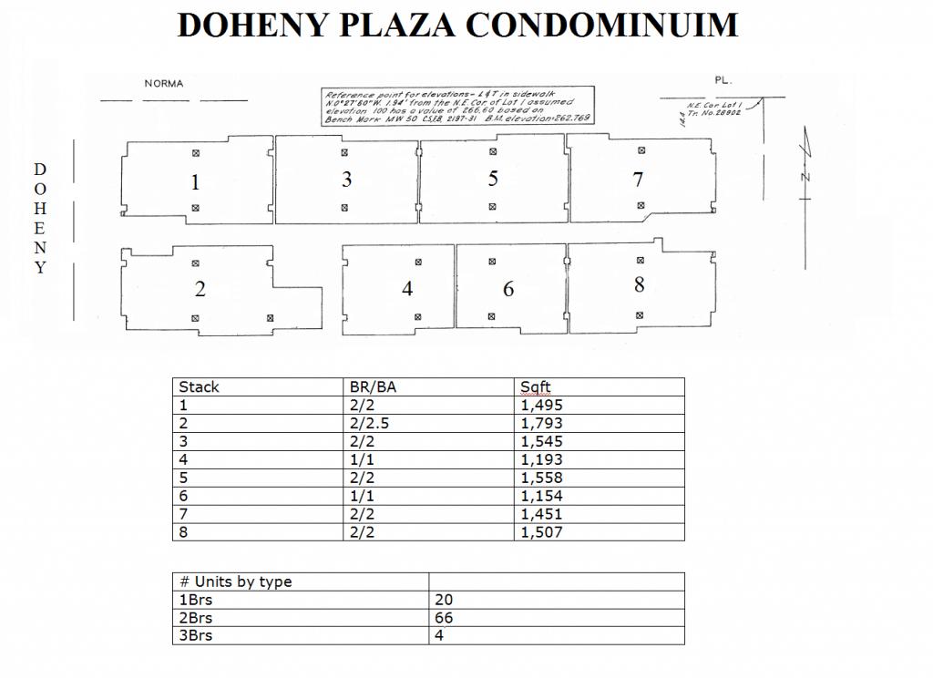 Doheny Plaza Floor plans