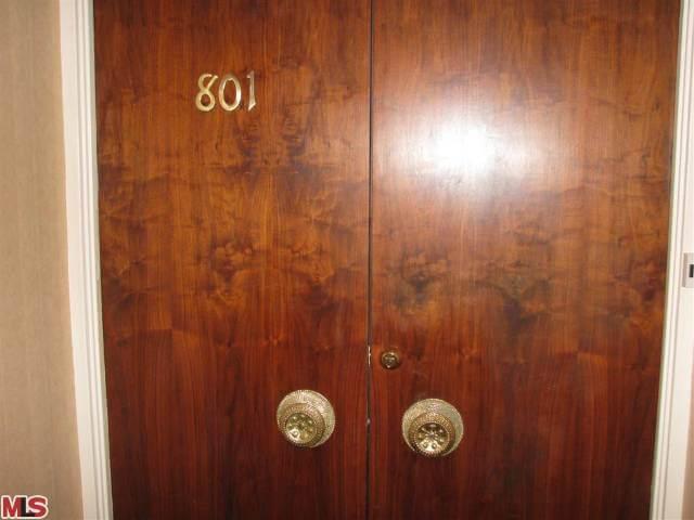 1100 Alta Loma mahogany doors