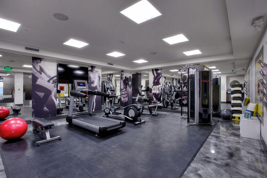 national modern living fitness room