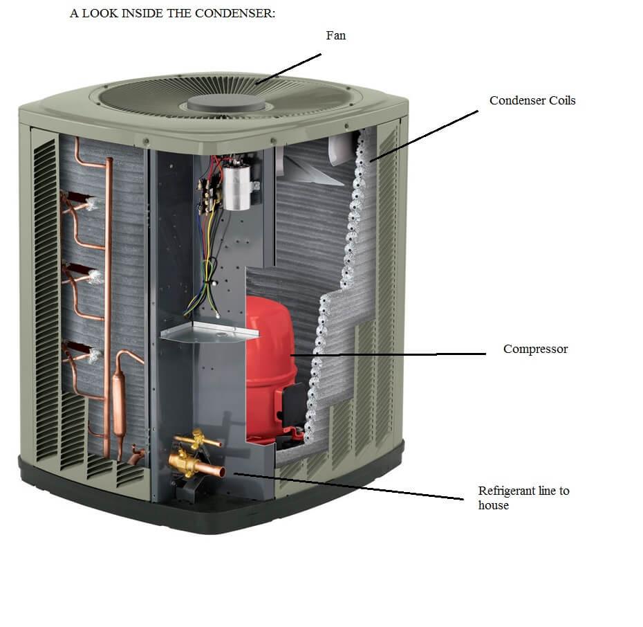 inside a condenser