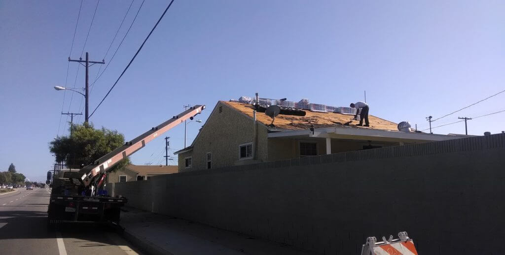 Delivery of Roof