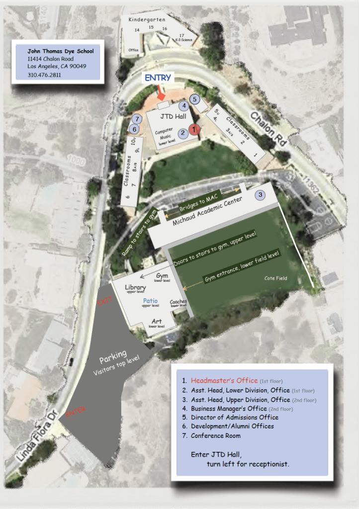 John Thomas Dye campus map