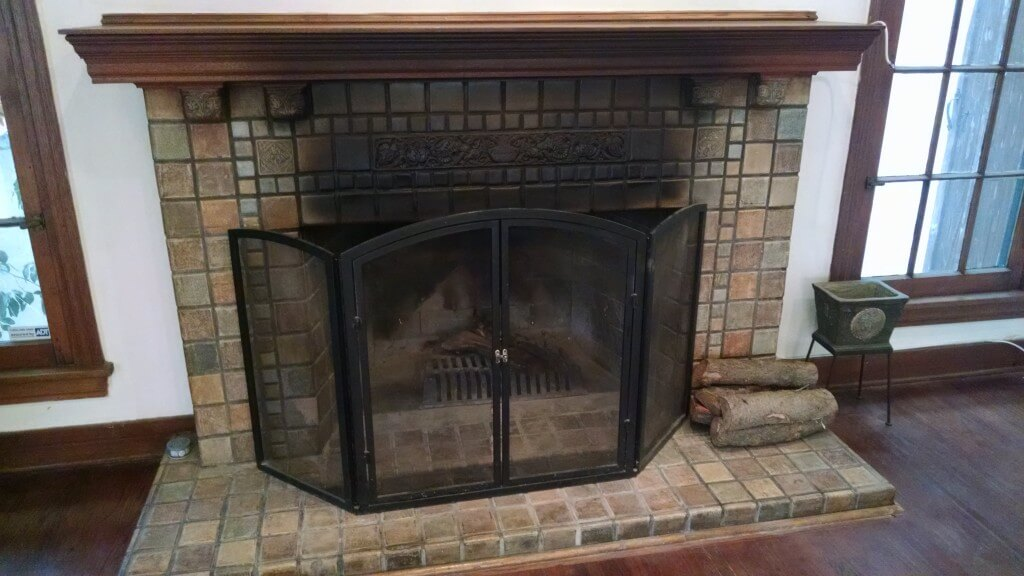 Fireplace soot stains