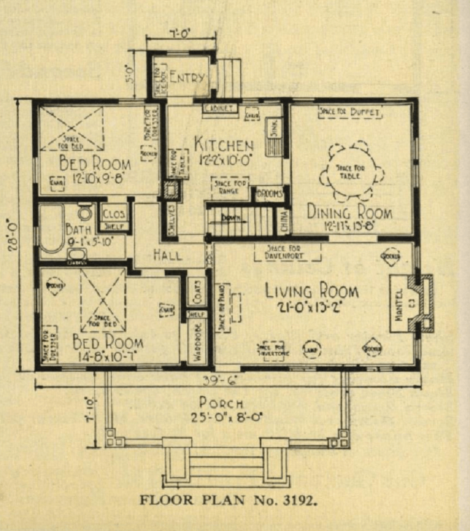 typical bungalow 5 room floorplan