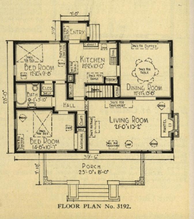 typical bungalow 5 room floorplan