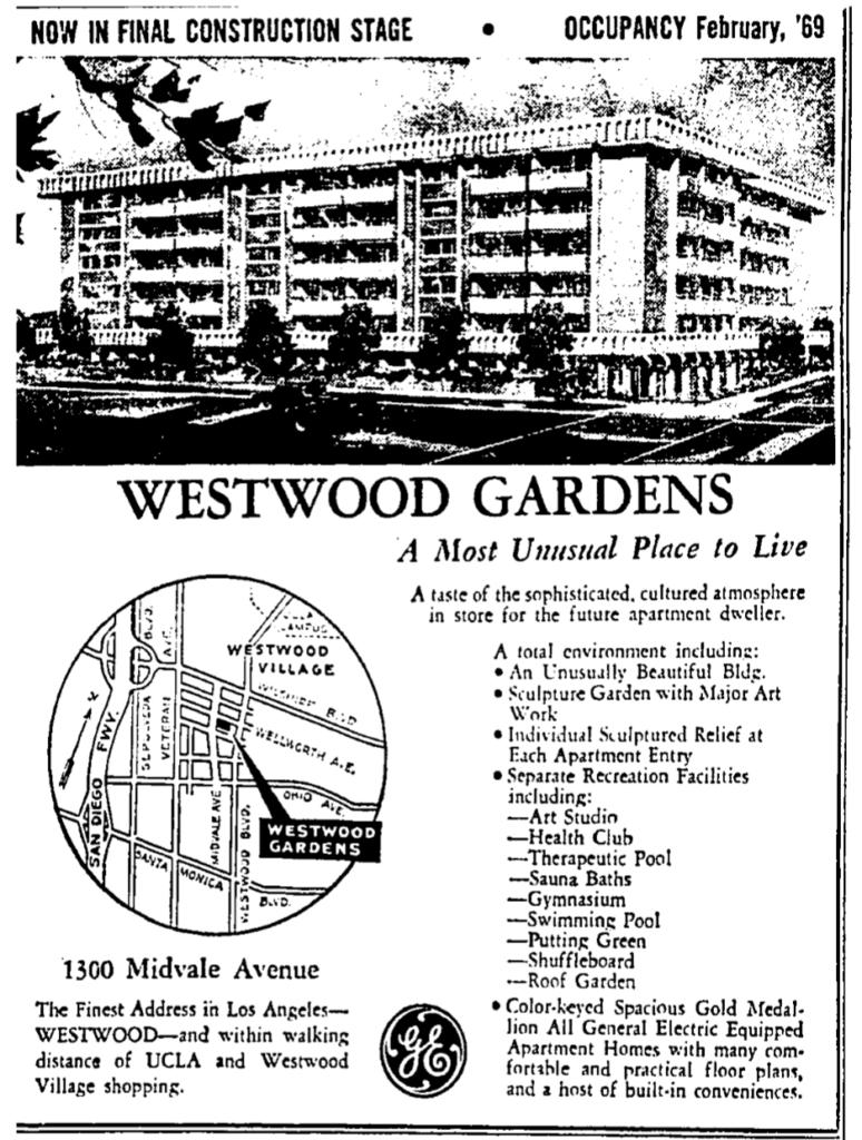 westwood gardens advertisement