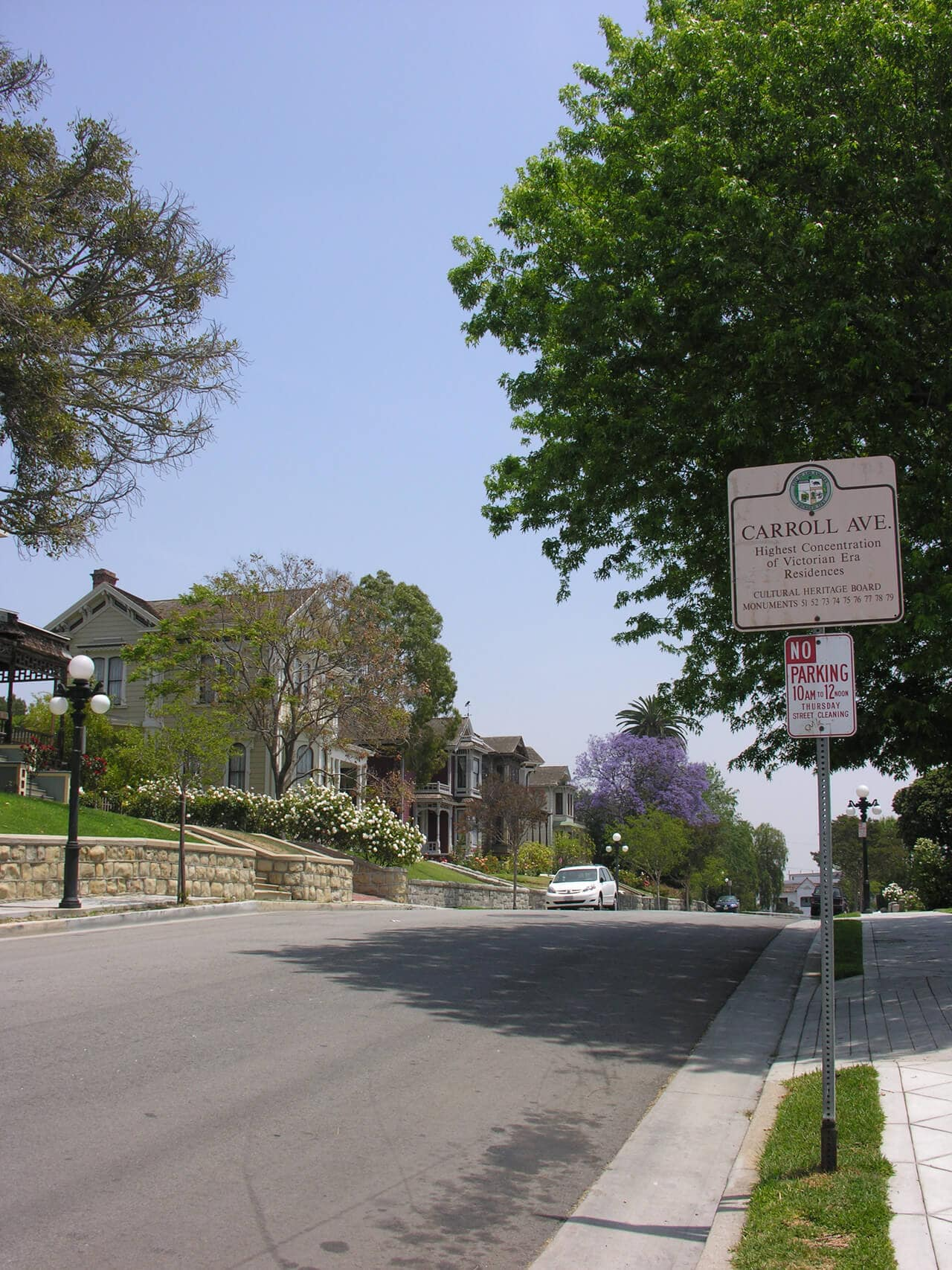 Angelino Heights Carroll Avenue Sign