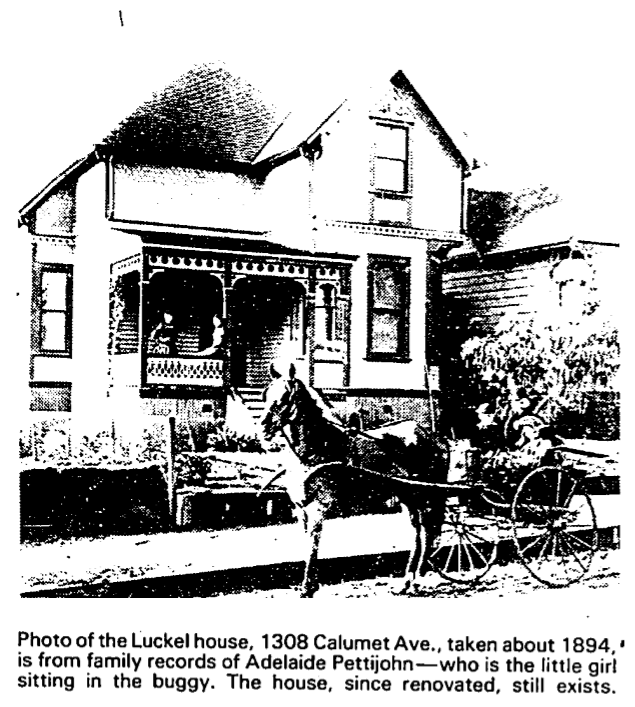 Luckel house 1308 calumet ave