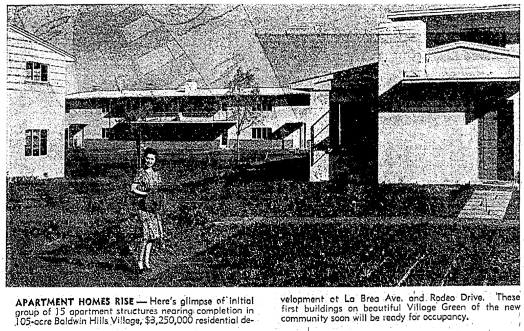 New Village Apartments on the rise 1941