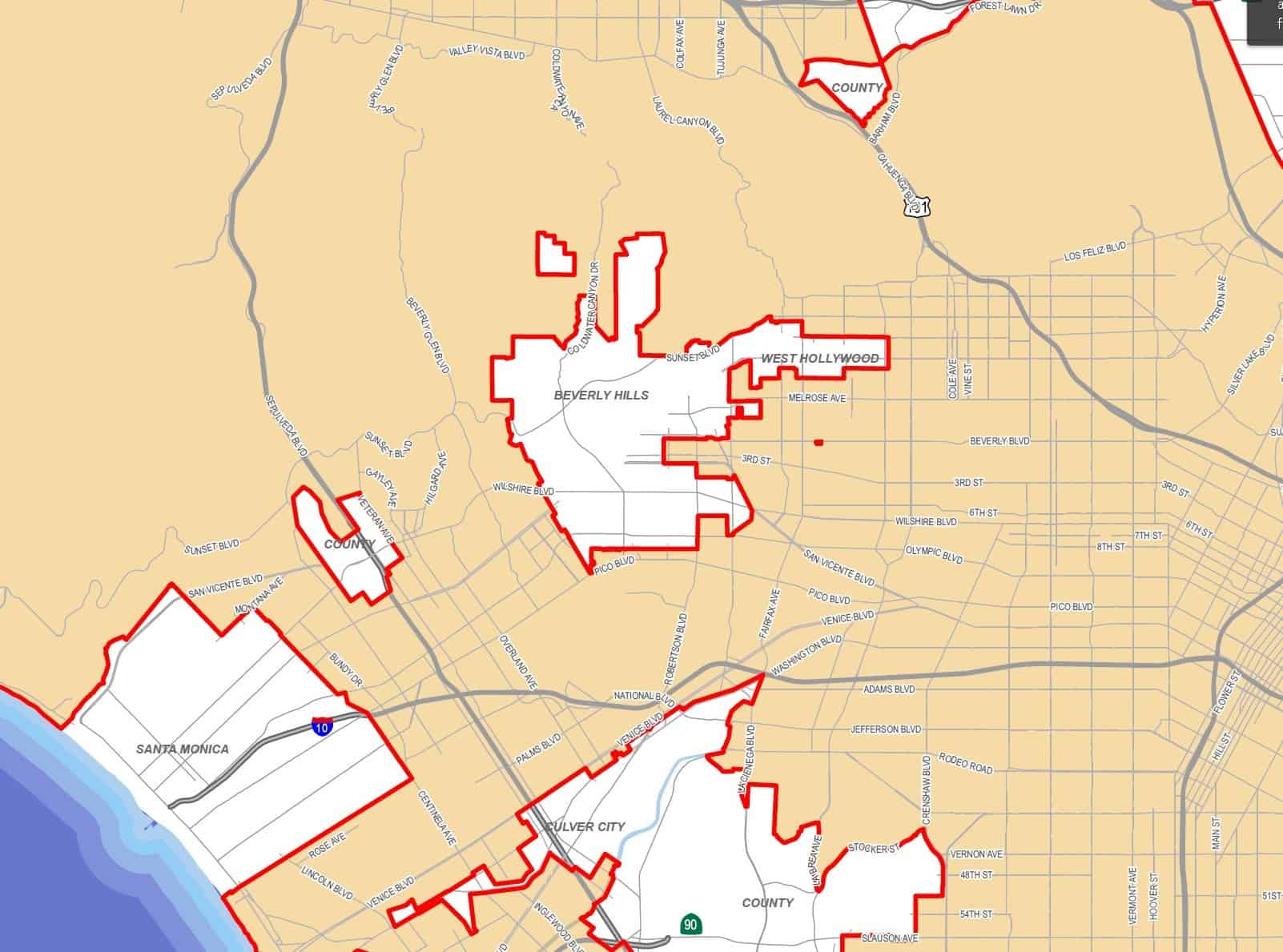 Rent Control Los Angeles Map